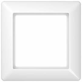 """JUNG серия """"А"""", АS 500Рамка 1 пост, цвет - белый, пластмасса"""