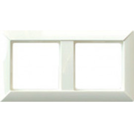 JUNG Рамка ECO profi, 2 поста,  цвет - белый, пластмасса