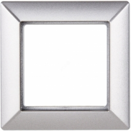 JUNG Рамка ECO profi, 1 пост,  цвет - алюминий, пластмасса